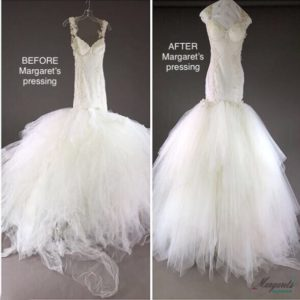Bridal Gown Pressing and Preservation by Margaret's the Couture Cleaner