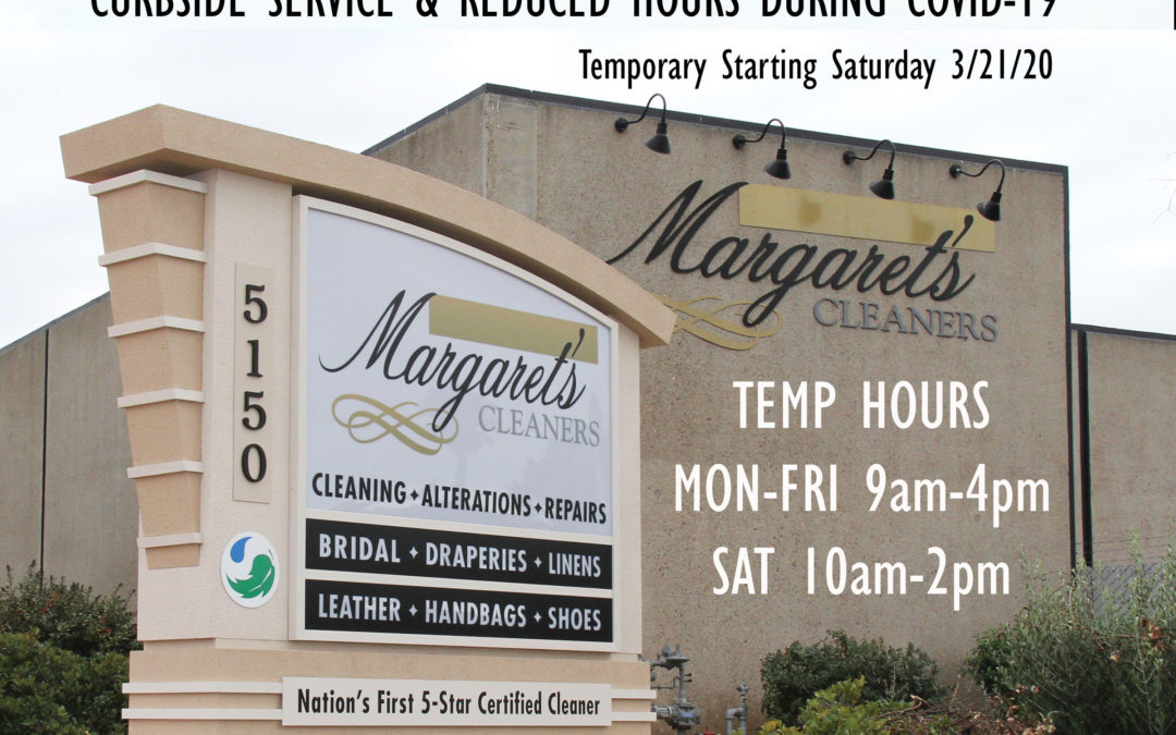 Curbside Service & Reduced Hours During COVID-19 Crisis